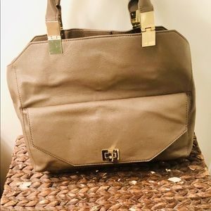 Ann Taylor Leather Work Tote.